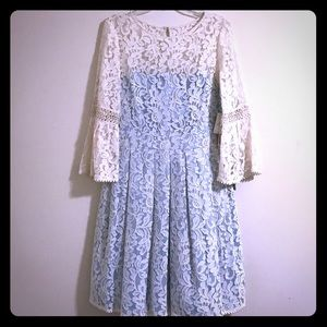 New Eliza J Lace Dress with Bell Sleeves.